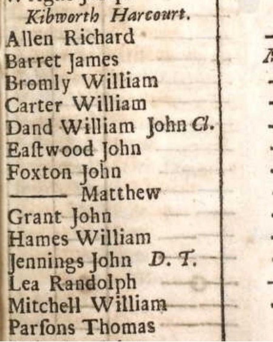 The Foxton Family of Kibworth