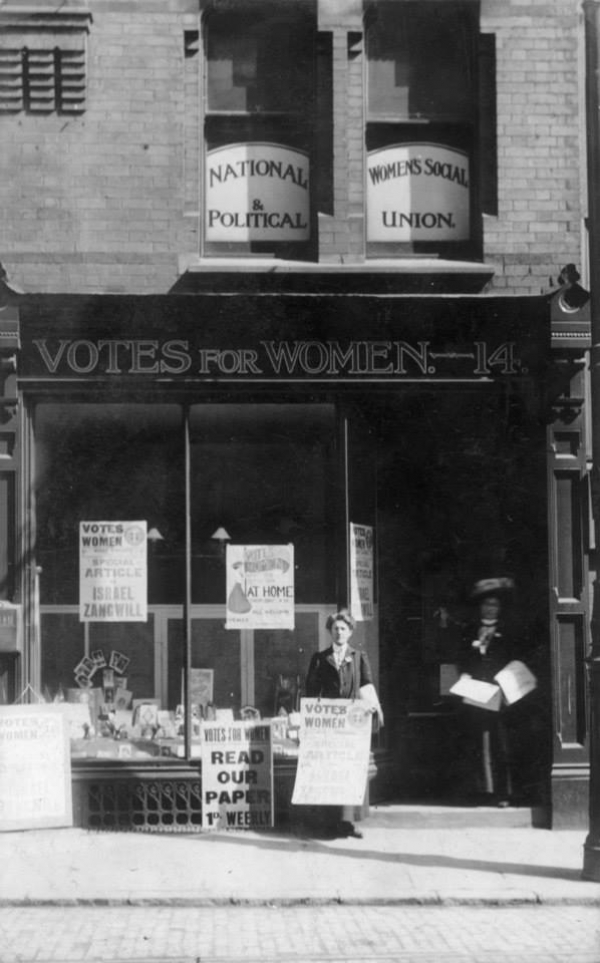 WSPU Shop, Bowling Green Lane, Leicester|#Nellie Taylor (No. 4, alias Mary Wyan) Surveillance Photo, 1913|Mary Ellen Taylor|||