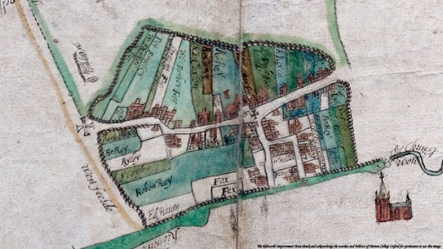 Kibworth Harcourt Map 1609
